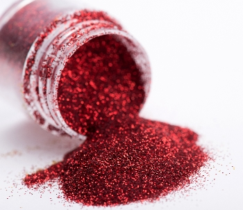 mica powder out of bottle red flakes
